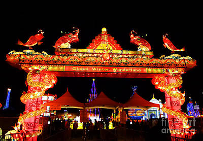 Photograph - Holiday Lights 11 by Xueling Zou