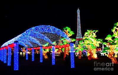 Photograph - Holiday Lights 6 by Xueling Zou