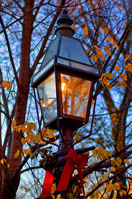 Holiday Streetlamp Art Print by Joann Vitali