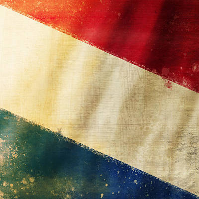 Holland Flag Art Print by Setsiri Silapasuwanchai