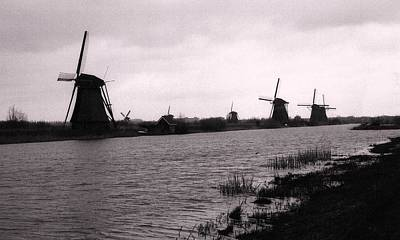 Photograph - Holland Windmills by John Scates