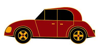 Hollande's Beach Car - Virtual Car Art Print by Asbjorn Lonvig