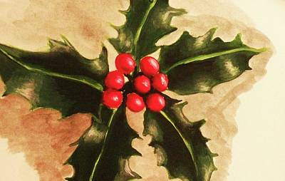 Holly And Ivy Art Print