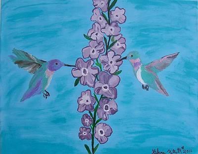 Holly Hocks Painting - Hollyhock Diner by Stefanie Nellett