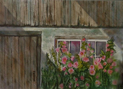 Painting - Hollyhocks by Heidi Patricio-Nadon