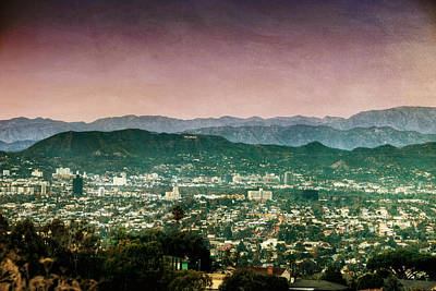 Hollywood At Sunset Art Print