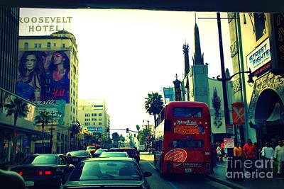 Hollywood Boulevard In La Art Print by Susanne Van Hulst