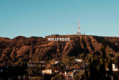 Photograph - Hollywood Sign At Sunset by Lorraine Devon Wilke