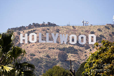 Hollywood Sign Photo Art Print by Paul Velgos