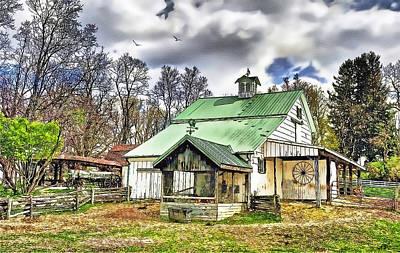 Barnyard Digital Art - Holmes County Farm by Tom Schmidt