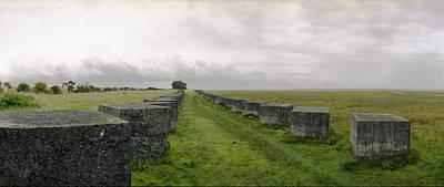 Holy Island Barriers Original by Jan W Faul