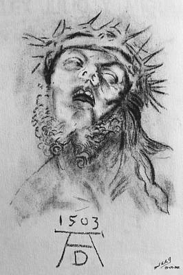 Miguel Rodriguez Drawing - Homage To Albrecht Durer by Miguel Rodriguez