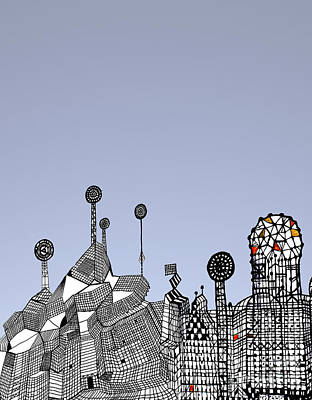 Homage To Gaudi Art Print by Andy  Mercer