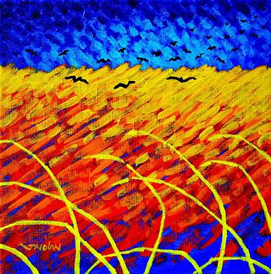 Homage To Vincent's Wheatfield Art Print by John  Nolan