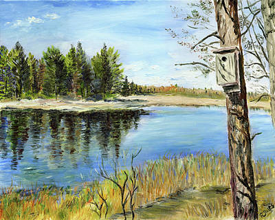 Painting - Home At Dragonfly Pond by Richard Jules