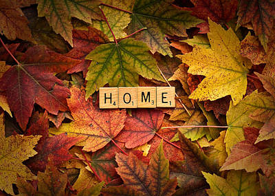 Photograph - Home-autumn by  Onyonet  Photo Studios