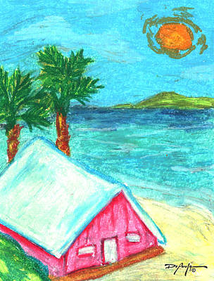 Home By Shore Art Print by William Depaula