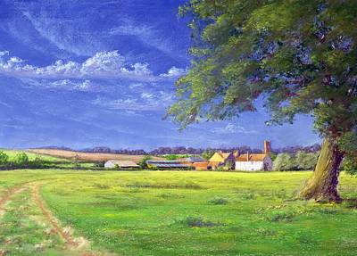 Field. Cloud Painting - Home Field by Anthony Rule