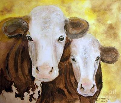 Painting - Home Grown Cows by Carol Grimes