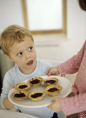 Years Old House Photograph - Home-made Jam Tarts by Ian Boddy