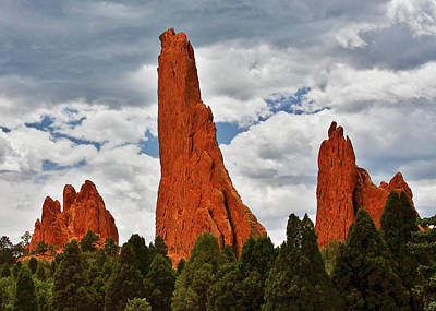 Jagged Photograph - Home Of The Weather God - Garden Of The Gods - Colorado City by Christine Till