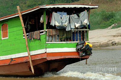 Photograph - Home On The Mekong by Bob Christopher