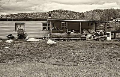 Mess Photograph - Home Sweet Home Sepia by Steve Harrington