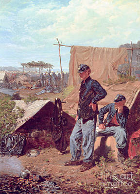 Soldier Painting - Home Sweet Home by Winslow Homer