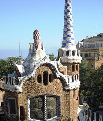 Photograph - Home With A View Park Guell Barcelona Spain by John Shiron