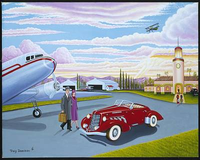 Dc-3 Painting - Homecoming by Tracy Dennison