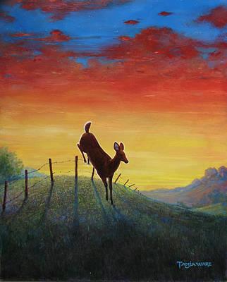 Wildlife Landscape Painting - Homeward Bound by Tanja Ware