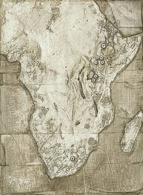 Hominid Fossil Sites In Africa Art Print by Kennis And Kennismsf