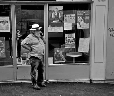 Photograph - Homme Avec Le Chapeau Blanc by Eric Tressler