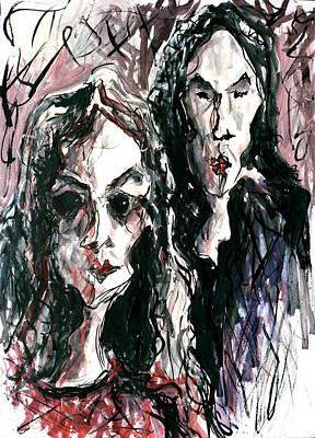 Homoline #36. Two Figures Art Print by Alfredo Gonzalez