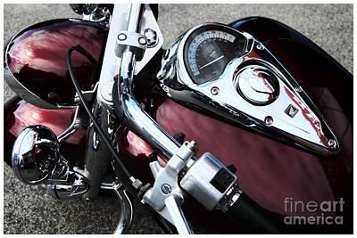 Photograph - Honda Bike Tachometer  by Alexandra Jordankova