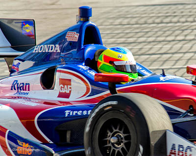 Indy Car Photograph - Honda by Glenn Thompson