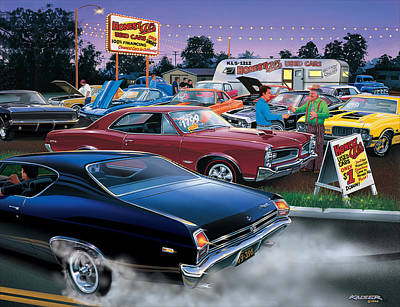 Second Hand Photograph - Honest Als Used Cars by Bruce Kaiser