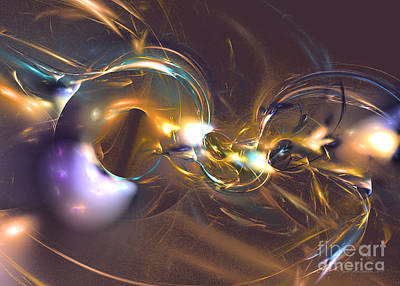 Digital Art - Honey Blue - Fractal Art by Sipo Liimatainen