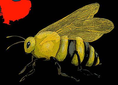 Christina Miller Painting - Honeybee by Christina Miller