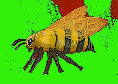 Christina Miller Digital Art - Honeybee2 by Christina Miller