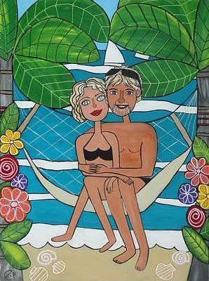 Painting - Honeymoon On Phi Phi by Elizabeth Langreiter