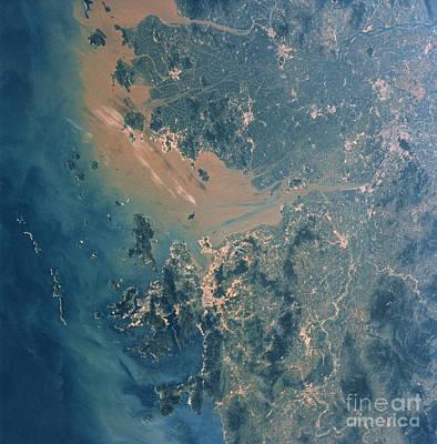 Hong Kong And Guangzhou Seen Art Print by NASA / Science Source