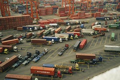 Importers And Importing Photograph - Hong Kong Cargo Terminal, One by Justin Guariglia
