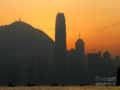 Photograph - Hong Kong Harbor At Dusk by Eva Kaufman
