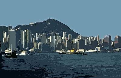 Hong Kong Island ... Art Print by Juergen Weiss