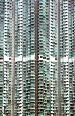 Photograph - Hong Kong Residential Building by Valentino Visentini