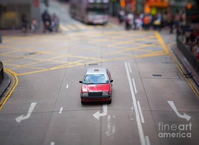 Hong Kong Taxicab Art Print by Ei Katsumata