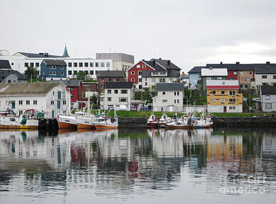 Photograph - Honningsvag Norway Harbor by Phyllis Kaltenbach