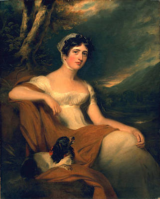 Historical Clothing Painting - Honorable Emma Cunliffe Later Emma Cunliffe-offley by Thomas Lawrence