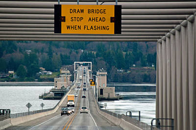 Photograph - Hood Canal Bridge by Tikvah's Hope